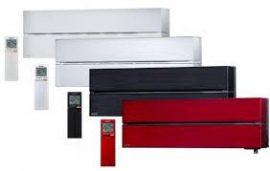 Oldalfali inverteres Luxury 2,5 kW rubint piros MSZ/MUZ-LN25VGR